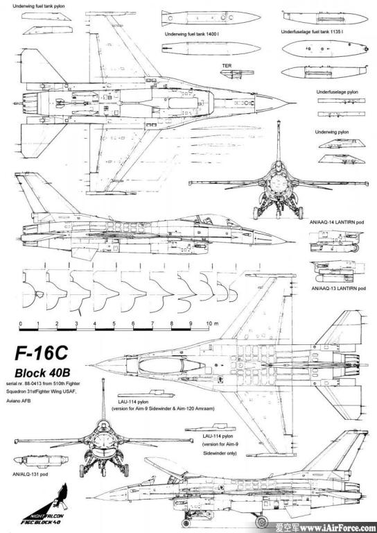 F-16C 3-View, Profiles, and Weapons.jpg